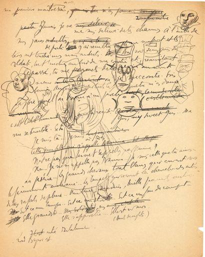 Jacques AUDIBERTI (1899-1965) écrivain. Environ...