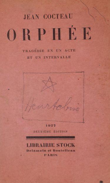 Jean COCTEAU (1889-1963). Orphée, tragédie...