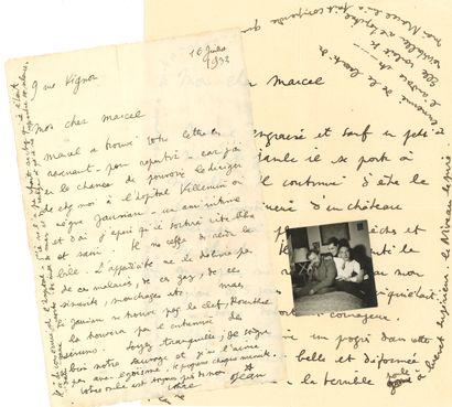 Jean COCTEAU. 3 L.A.S., Paris 1932-1933,...