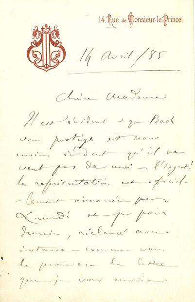 Camille SAINT-SAËNS (1835-1921). L.A.S.,...