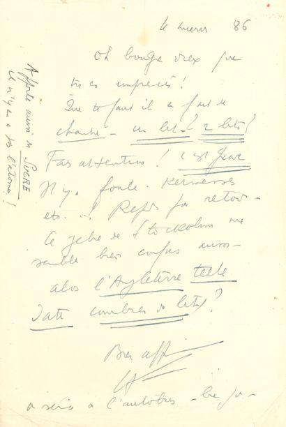 Louis-Ferdinand CÉLINE. L.A.S. «LF», [Copenhague...