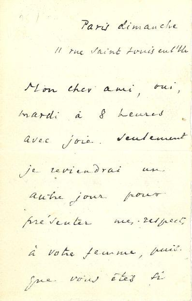 Marcel SCHWOB (1867-1905). L.A.S., Paris...