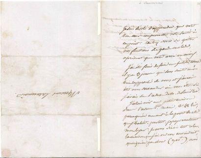 Pierre-Jean de BÉRANGER (1780-1857). 3 L.A.S.,...