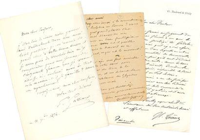 BEAUX-ARTS. Environ 60 L.A.S. Gabriel-Rousseau (à Frantz Jourdain, 1923). Paul Gallimard....