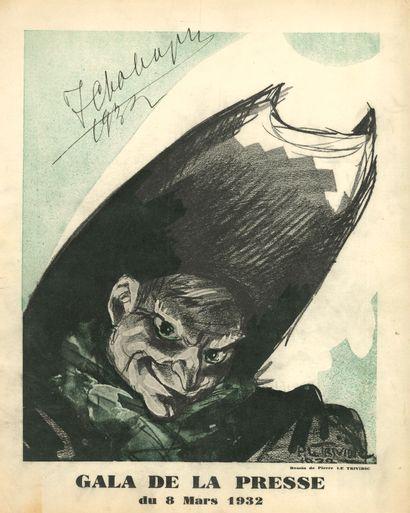 Feodor CHALIAPINE (1873-1938). Programme...