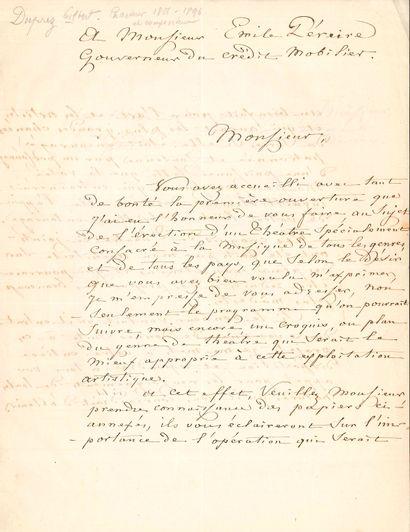 Gilbert DUPREZ (1806-1896) le grand ténor. L.A.S., Paris 1er juillet 1864, à Émile...