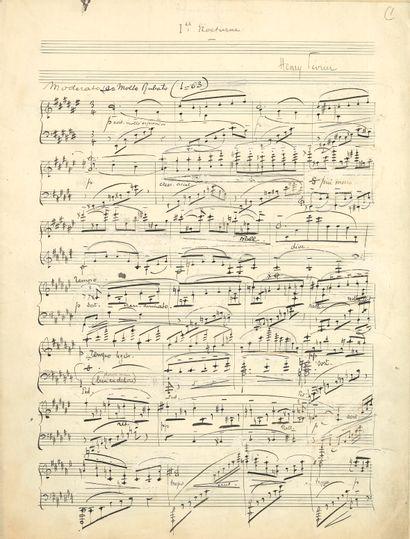Henry FÉVRIER (1875-1957). Manuscrit musical...