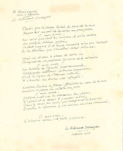 Georges RIBEMONT-DESSAIGNES (1884-1974)....