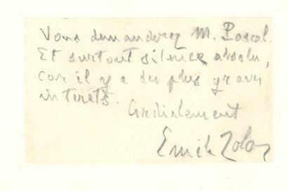 Émile ZOLA. L.A.S., [Londres 19 juillet 1898,...