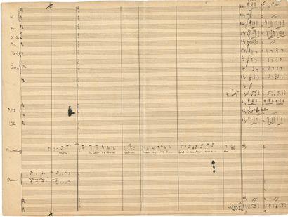 Charles LECOCQ. Manuscrit musical autographe...