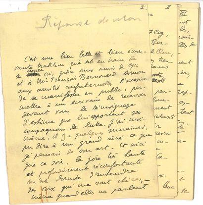 Henri-René LENORMAND (1882-1951). Manuscrit...