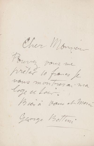 [Édouard Marty (1851-1913) peintre, dessinateur et illustrateur]. 4 L.A.S. à lui...