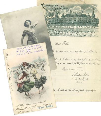 WILLY (1859-1931). 7 L.A.S. ou cartes à Paul...