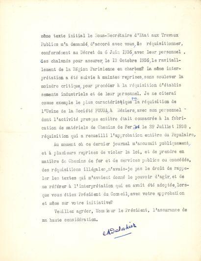 Édouard DALADIER (1884-1970) homme d'État,...