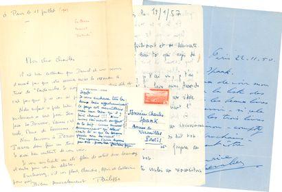 CINÉMA. Charles SPAAK (1903-1975). Manuscrit...