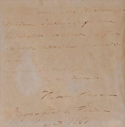 Victor HUGO (1802-1885). P.A.S., «Bruges...