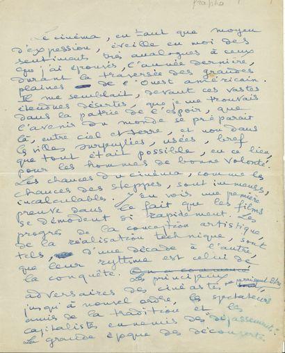 Henri TROYAT (1911-2007). 2 manuscrits autographes...