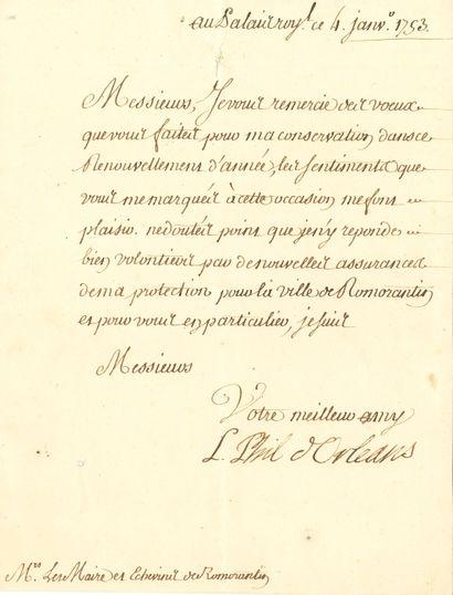 Louis-Philippe, duc d'ORLÉANS (1725-1785)...
