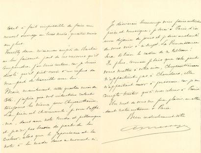 André MESSAGER (1853-1929). 27 L.A.S., 1888-1892,...