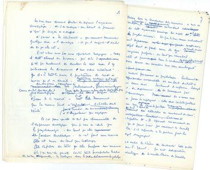 Jacques LACAN. Manuscrit autographe; 39feuillets...