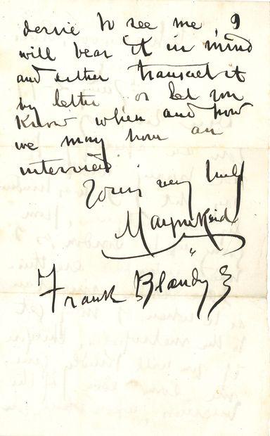 Thomas MAYNE REID (1818-1883). L.A.S., Chasewood,...