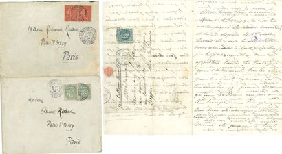 Edmond ROSTAND (1868-1918). 4 enveloppes...