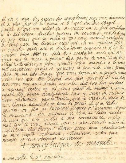 Henry de BELSUNCE (1671-1755) évêque de Marseille,...