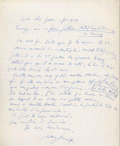 Jean GENET (1910-1986). 3 L.A.S., 2 P.A.S....