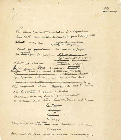 Guy de MAUPASSANT (1850-1893). Manuscrits...