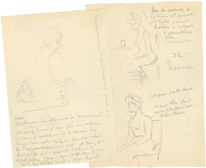 Henri-Edmond CROSS (1856-1910). 4 dessins...