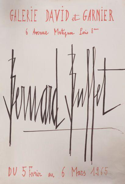 Bernard BUFFET. P.A.S., [début 1965]; 99 x 73 cm sur papier fort (petite fente...