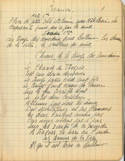 [Guillaume APOLLINAIRE]. Manuscrit autographe...