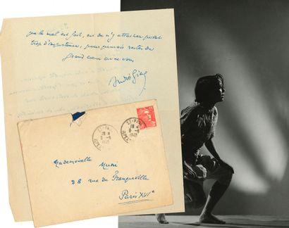 André GIDE (1869-1951). 4 L.A.S., 1949-1950,...