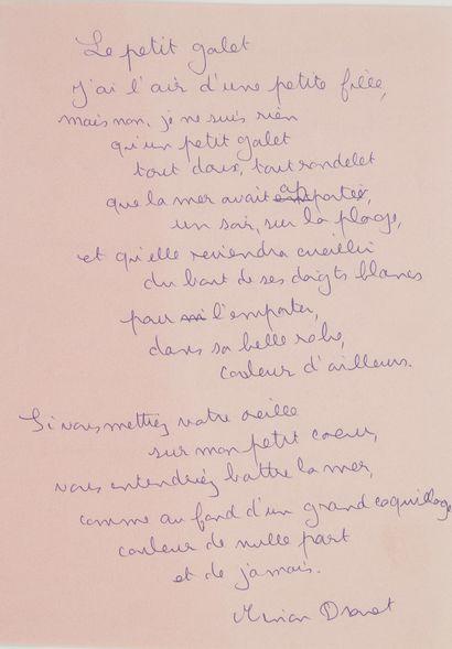 Marie-Noëlle dite Minou DROUET (née en 1947)....