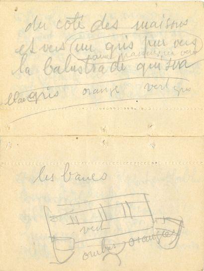 Raoul DUFY (1877-1953). Manuscrit autographe...