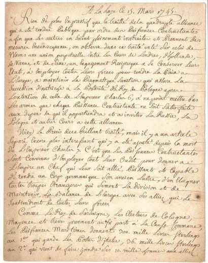 NOUVELLES À LA MAIN. Copie manuscrite de...