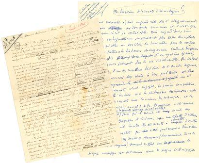 Philippe ARIèS (1914-1984). Manuscrit autographe...
