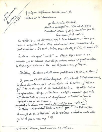 Paul-Émile VICTOR (1907-1995) explorateur...