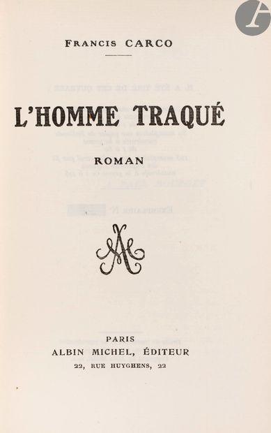 CARCO (Francis). Ensemble d'éditions originales...