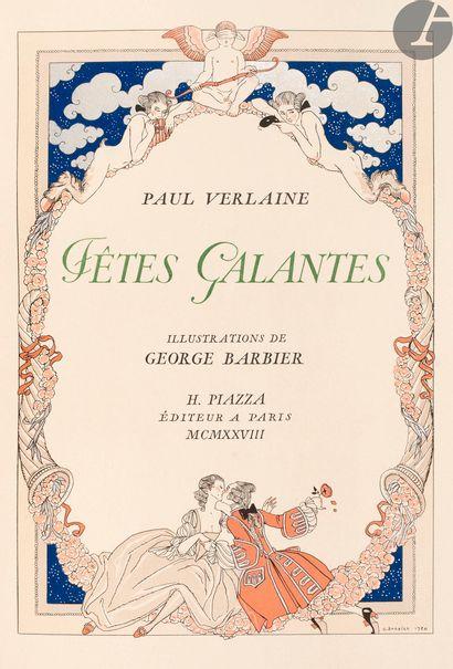 BARBIER (George) - VERLAINE (Paul). Fêtes...