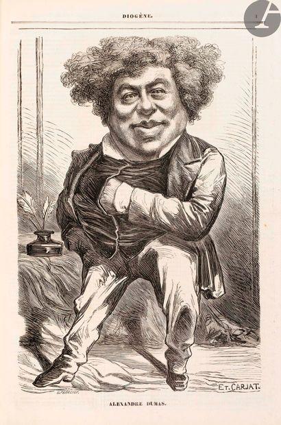 CARJAT (Étienne). Diogène. Portraits et biographies...