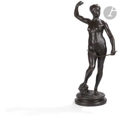 Alexandre Falguière (1831-1900) Diane Bronze...