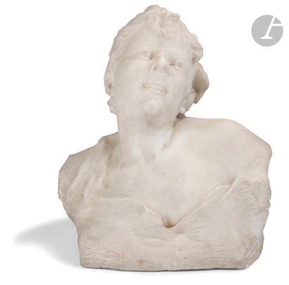 Pierre Devaux (1865-1938) Buste de jeune...