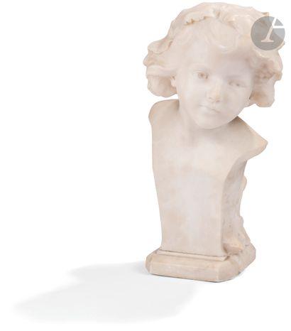 Frédéric Brou (1862-1926) Buste de jeune...