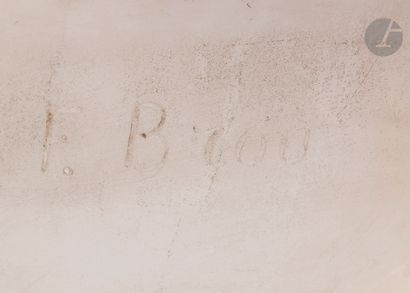 Frédéric Brou (1862-1926) Buste de jeune bacchante Marbre blanc Signé « F. BROU...