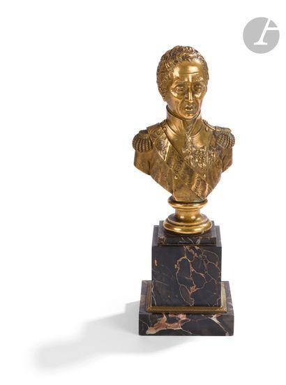 Buste en bronze doré représentant Charles...