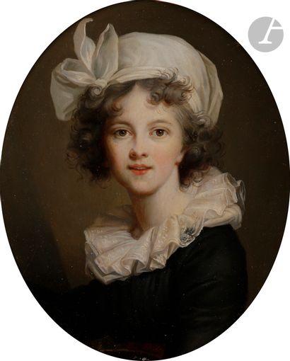 École FRANÇAISE du XIXe siècle, d'après d'Élisabeth VIGÉE LEBRUN Autoportrait de...