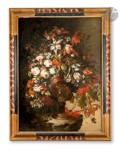 Dans le goût de Mario NUZZI Vase de fleurs...