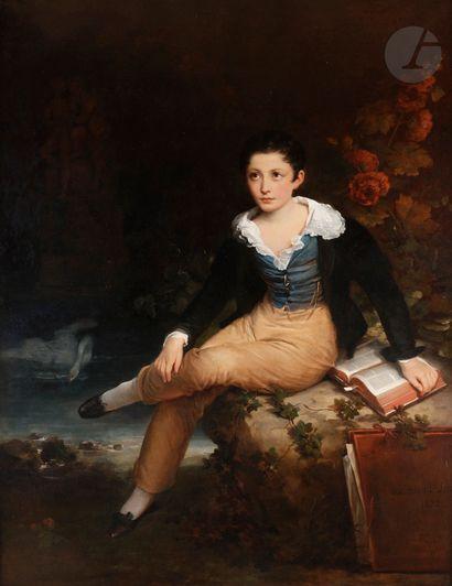 Hortense HAUDEBOURT-LESCOT (Paris 1784-1845) Portrait d'enfant Toile Signée et datée...