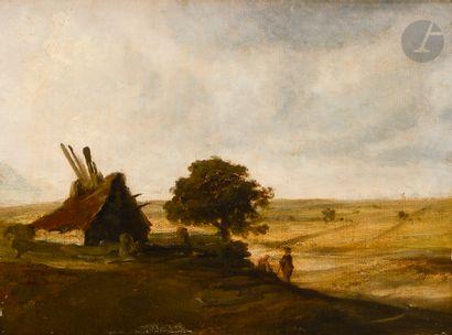 Georges MICHEL (Paris 1763 - 1843) Couple...